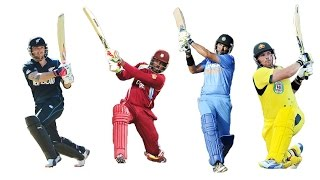 Top 10 batsmen with most sixes in a T20