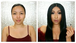 CARDI B Makeup Transformation !!!