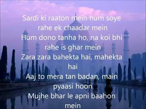 Zara Zara Lyrics   YouTube