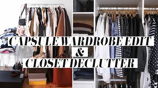 CURATING A CAPSULE WARDROBE (Maternity) + Closet Declutter/Wardrobe Clearout [AD] | Mademoiselle
