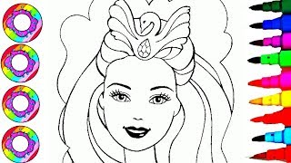 Coloring & Drawing Barbie Princess & Accessories Coloring Pages Videos for Kids