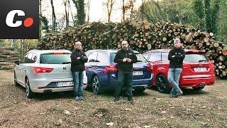 Ford Focus ST, Peugeot 308 GT SW, Seat León ST FR | Prueba compactos familiares | coches.net