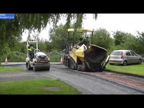 (HD) Road resurfacing Eurovia & Jet Plant Hire 13/06/13