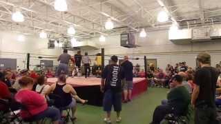 Lawlers vs Tommy Rich and Robert Gibson - Bunkhouse Brawl 8-24-13 Monroe,GA