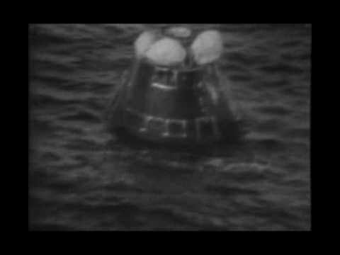 APOLLO 13 - all BBC's TV original reentry & splashdown footage - part 4 of 5