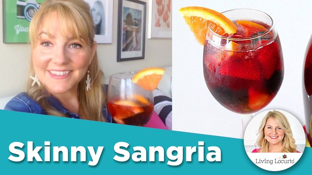Skinny sangria easy low calorie cocktail drink recipe for Easy alcoholic mixed drinks