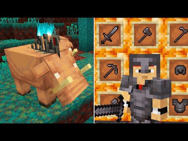 Майнкрафт 1.16 - новые блоки, оружие, броня, механизмы, мобы, биомы!