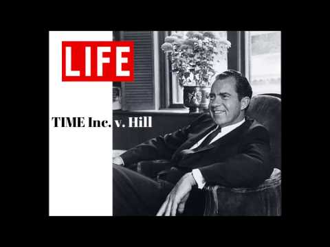 Richard Nixon argues before the Supreme Court in TIME, Inc. v. Hill
