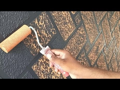 Brick wall painting techniques | Asian paints interior brick wall