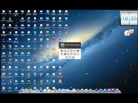 How to change Windows 7/XP/8 Style/Theme into Mac OS Style/Theme
