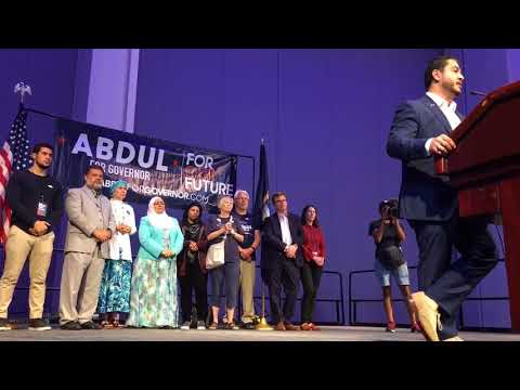 Abdul El-Sayed gives emotional concession speech, urges support for Whitmer
