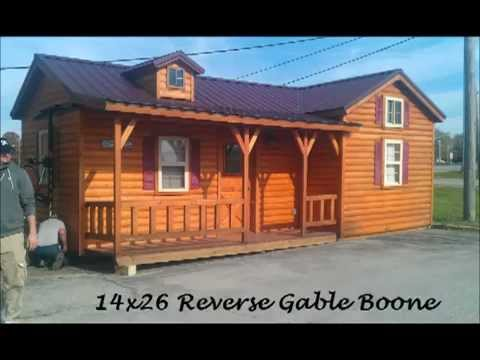 USA Portable Buildings- Amish Log Cabins- Delivery.mp4