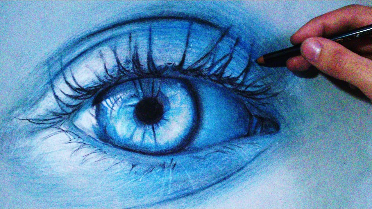 Eyes Blue Drawing How to Draw a Realistic Blue