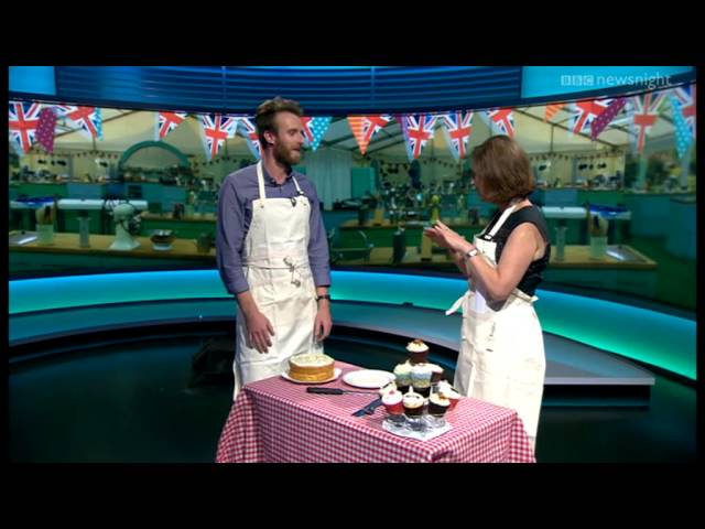 BBC Newsnight: Great British Bake-Off's Iain Watters on his baked Alaska