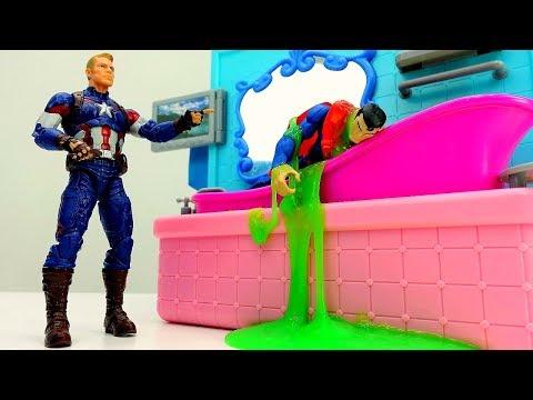 Джокер против Супермена: ванна с КРИПТОНИТОМ 🛀 Приключения СУПЕРГЕРОЕВ #Marvel