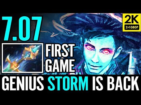 First Time 7.07 Storm Spirit Epic META DOTA Dota 2 Reborn