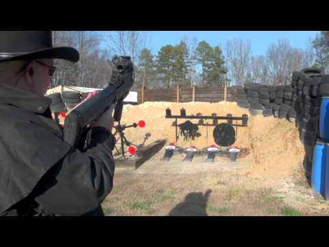 Kel-Tec KSG 12ga Shotgun Shooting