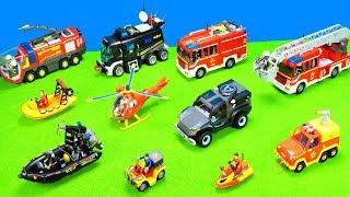 Spielzeug Feuerwehrautos Feuerwehrmann Sam, Boote & Playmobil Polizeiautos Kinderfilm