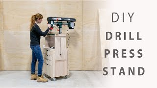 DIY Mobile Drill Press Stand