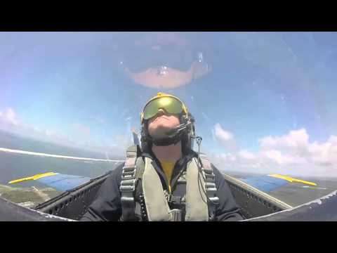 US Navy fighter jet engineer passes out during practice flight