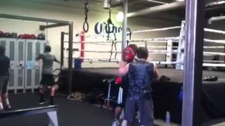 "Zak Boxing With Ray ""Boom Boom"" Mancini"