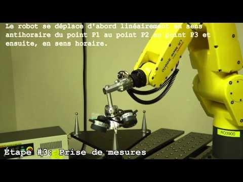 Étude de répétabilité et d'exactitude de positionnement du robot industriel LR Mate 200iC