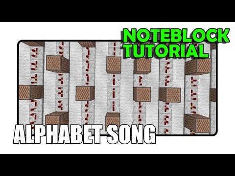 The Alphabet Song - Note Block Tutorial (minecraft) video