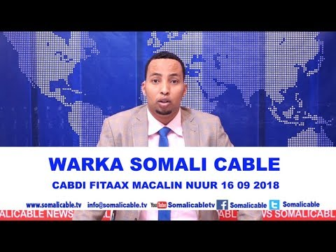 WARARKA SOMALI CABLE IYO CABDIFITAAX MACALIN NUUR 16 09 2018 thumbnail
