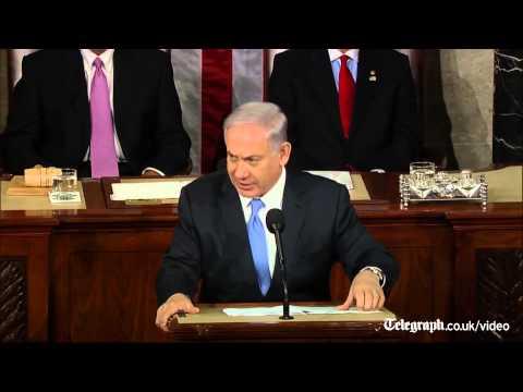Benjamin Netanyahu's speech to Congress interrupted by standing ovations