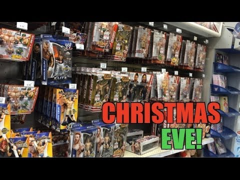 WWE ACTION INSIDER: ToysRus Christmas Eve 2013 Wrestling figure aisle! Mattel Best of PPV Elites