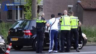Man wordt woedend na aanrijding op de Hollandbaan in Woerden.