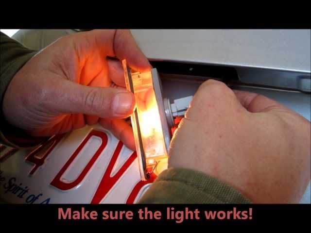 How to replace a license plate bulb on an 06 - 10 Hyundai ...