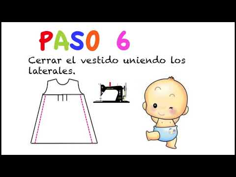 Cmo hacer vestido de beb nia muy fcil (patrn en varias tallas incluido)
