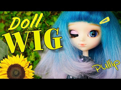 💟 How to make a doll Pullip wig 💇 own hands 🖐🏻 Kanekalon 🌈 hair with a color transition