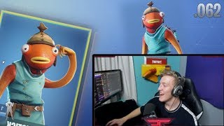 Tfue's Reaction To The New Fishstick Skin!