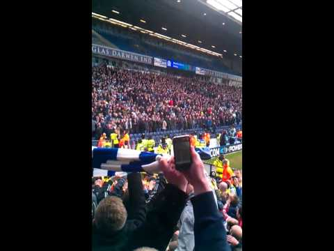 blackburn rovers v burnley 34 years crowd party