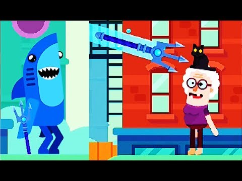Bowmasters #8  Мультфильм Игра про ДУЭЛЬ ГЕРОЕВ Игровой мультик для детей #Мобильные игры
