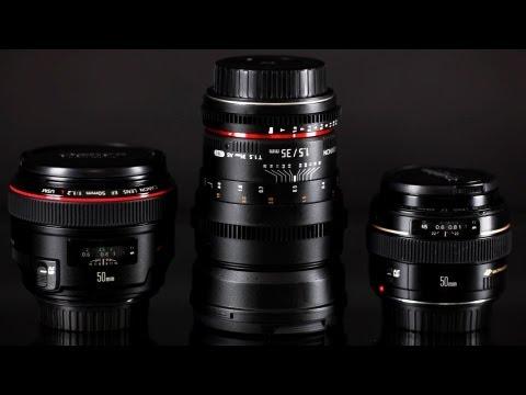 ROKINON Cine Lens 35 T1.5 v.s. Canon 50mm f1.2 vs Canon 50mm f1.4