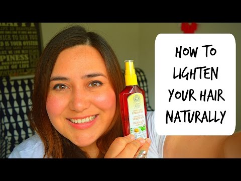 How to lighten your hair naturally! (No bleach only chamomile extract)
