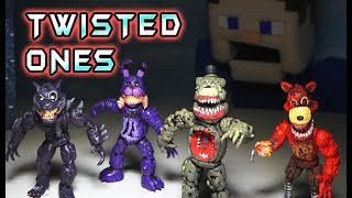 Five Nights at Freddy's Twisted Ones Bootleg Fnaf Action Figures Toys Unboxing Fake Funko!