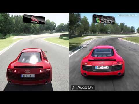 Assetto Corsa vs Project CARS - Audi R8 V10 Plus at Imola