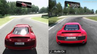 Assetto Corsa vs Project CARS - Audi R8 V10 Plus at Imola