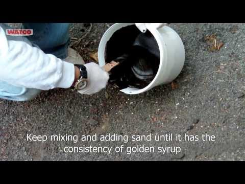 Watco Asphalt Crack Filler Application