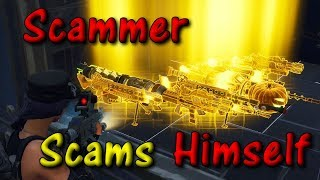Nicest Scammer Scams Himself! Scammer Gets Scammed On Fortnite Save The World *MUST WATCH*
