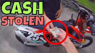 Cash Stolen On Dirt Bike