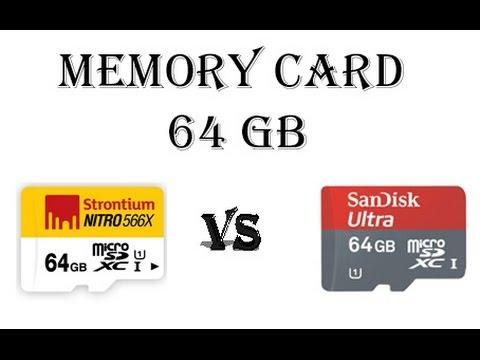 Strontium Nitro 566X UHS-1 vs Sandisk Ultra 64 GB performance comparision