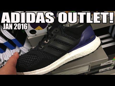 adidas & UA Outlet Shopping! Ultra Boost? Lillards, D Rose  (Jan 2016)