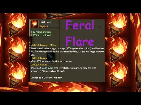 """NEW Jungle Item - Feral Flare - League of Legends"" Upgrade From Wriggle's Lantern - LOL PBE"