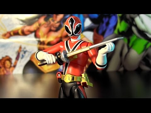 R02 Bandai S.H. Figuarts Shinkenger Power Rangers Samurai Shinken Red Shiba Takeru Review