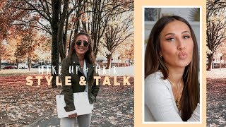 STYLE & TALK | ALLTAGSLOOK: MAKE UP & HAARE